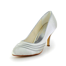 Pumps Striped Stilettos Slip On Wedding Shoes For Women High Heels Dress Shoes