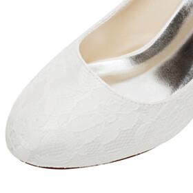 Round Toe Pumps 2021 Mid Heel Spring Tulle Flowers Elegant Wedding Shoes