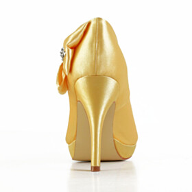 Stiletto Yellow Open Toe Evening Party Shoes Dress Shoes Wedding Shoes 10 cm High Heel