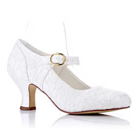 Pumps Beautiful Stiletto Satin Mid Heels Flowers Ankle Strap Dress Shoes Bridal Shoes