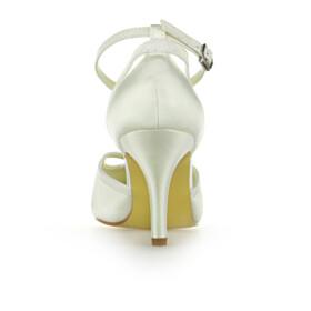 Formal Dress Shoes 8 cm High Heel Stiletto Ankle Strap Elegant Pumps Pointed Toe Bridal Shoes