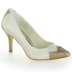 Pumps Beautiful Pointed Toe Sequin 3 inch High Heel 2021 Bridal Shoes