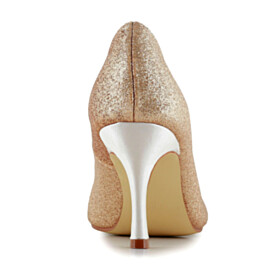 High Heel Peep Toe Champagne Stilettos Round Toe 2021 Glitter Pumps Gorgeous Sparkly Evening Party Shoes Wedding Shoes For Women