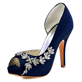 4 inch High Heel Beautiful Stiletto Metal Jewelry Peep Toe D orsay 2021 Bridals Wedding Shoes Sandals For Women