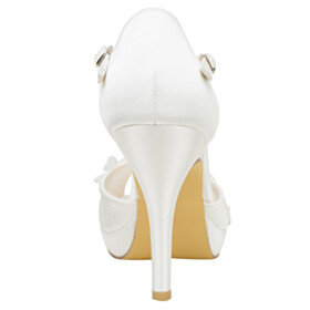 Beautiful Bridal Shoes Sandals For Women 4 inch High Heel Stilettos Peep Toe 2021 Strappy