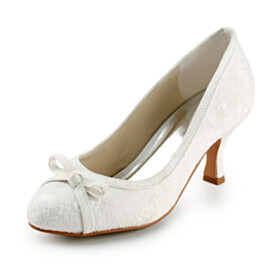 With Bowknot Pumps Slip On Tulle 7 cm Mid Heel