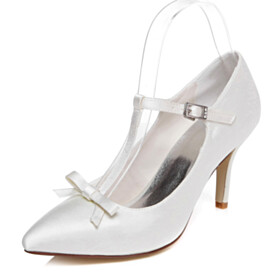 3 inch High Heel Beautiful Satin Shoes Pumps Stilettos Wedding Shoes For Women Dress Shoes With Ankle Strap