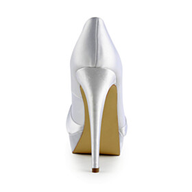 Elegant Dress Shoes Round Toe Pumps High Heels Stilettos Bridals Wedding Shoes Womens Shoes