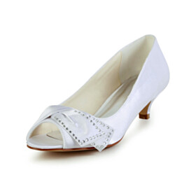 Pumps Kitten Heel Womens Shoes Bridal Shoes Comfortable Peep Toe