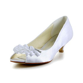 White Ruffle Kitten Heel Open Toe Low Heeled 2020 Pumps Wedding Shoes Satin Womens Footwear
