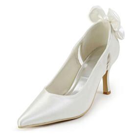 Beautiful Stilettos Ivory 3 inch High Heel Slip On Pumps Wedding Shoes Womens Footwear